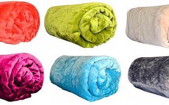 Měkkoučká deka z mikroflanelu 150x200 cm, na výběr 12 barev. Deka se hodí jako přehoz na sedací soupravu či postel nebo se do ní můžete zachumlat při odpočinku.