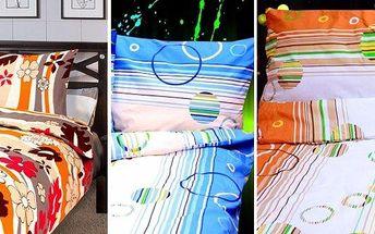 4dílné krásné bavlněné povlečení DELUX: 2x povlečení peřina 140X200 cm / 2x povlečení polštář 70X90 cm., je vyrobeno z vysoce kvalitní 100% bavlny. Jeho jemnost a hebkost Vám zaručí klidný a pohodlný spánek. Vybírejte ze sytých barev a rozmanitých motivů.