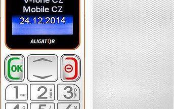 Mobilní telefon Aligator Senior A320 DualSim (A320WO) bílý/oranžový