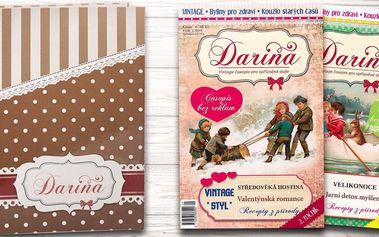 Půlroční předplatné vintage časopisu Darina i s pořadačem