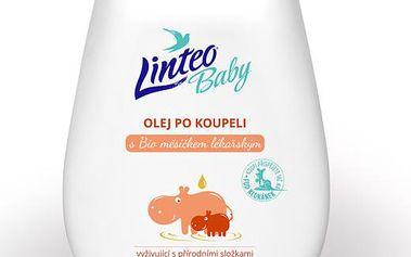 Linteo Baby Dětský olej po koupeli s Bio měsíčkem lékařským 250 ml