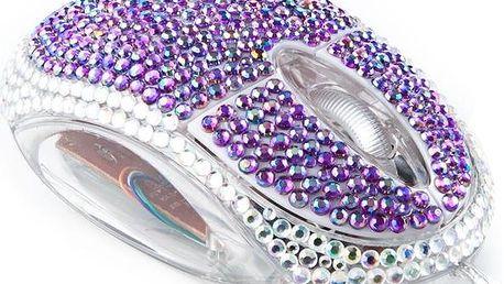 Satzuma USB myš diamant fialová