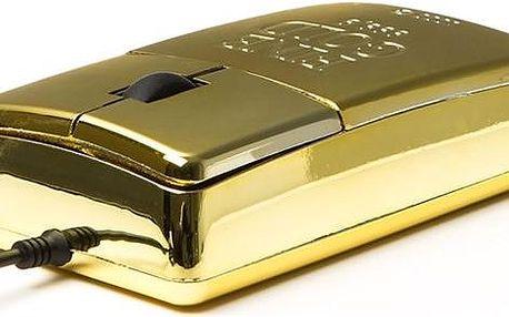 Satzuma USB myš zlatá cihla