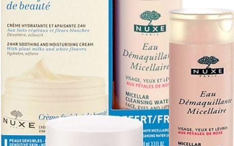 Nuxe Creme Fraiche de Beauté 24HR Soothing Cream dárková kazeta pro ženy pleťový krém 50 ml + micelární voda 100 ml