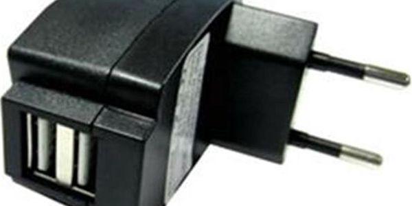 A-link PC2U2AEC nabíjecí adaptér 2xUSB 2A černý