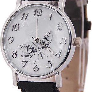Elegantní hodinky s motýlkem - černá - skladovka - poštovné zdarma