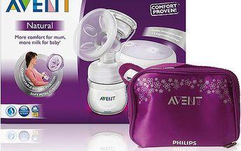 AVENT Odsávačka mateřského mléka Natural elektrická+taška