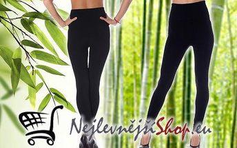 Klasické černé bambusové legíny s vysokým pasem, které snadno zkombinujete s ostatními kousky Vašeho šatníku i botníku! Výhodou bambusového vlákna je hlavně jeho měkkost a jemnost, která nezmizí ani po vyprání bez použití aviváže a má navíc antibakteriáln