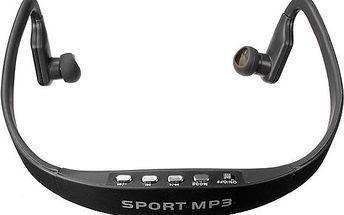 Sportovní bezdrátová sluchátka s MP3 přehrávačem - skladovka