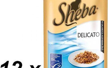 Sheba DELICATO tuňák v želé 12 x 85 g