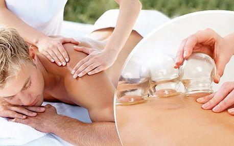60min. relaxační masáž na míru s prohřátím lávovými kameny nebo baňkování zad a šíje v Pardubicích.