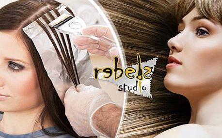Dámský kadeřnický balíček pro všechny délky vlasů. Střih, melír či barva a regenerace ve Studiu Rebels v Ostravě!