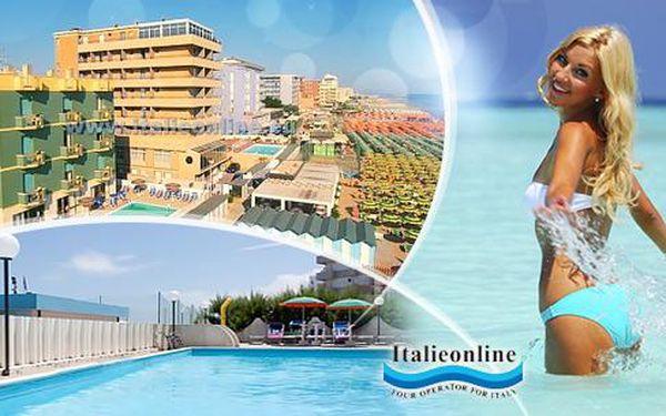 Letní Itálie - Pesaro, 8 dní pro 1 osobu v hotelu hned u moře s polopenzí a až 2 dětmi do 12 let zdarma! Možnost dopravy.