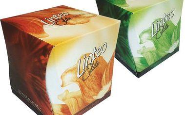 Linteo Elite Papírové kapesníky BOX 60 ks, bílé, 3-vrstvé