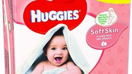 Huggies vlhčené ubrousky Soft Skin Quatro Pack (56x4)