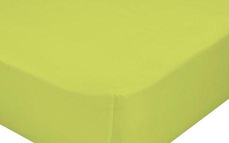 Mr. FOX Bavlněné prostěradlo, 60x120 cm - zelené