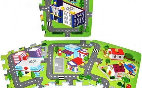 Teddies Pěnové puzzle Město, Zelená