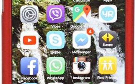 CellFish Full kryt s tvrzeným sklem pro Apple iPhone 6/6s červený