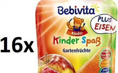 Bebivita Ovocná kapsička - Ovoce ze zahrádky - 16×90g