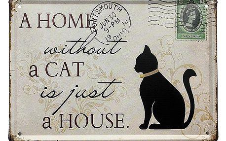 Plechová cedulka pro milovníky koček - dodání do 2 dnů