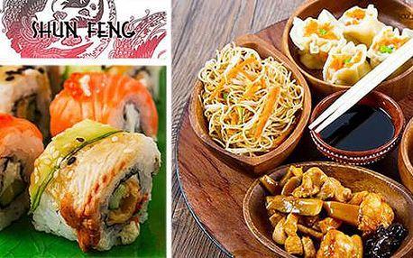 Sleva 60 % na veškeré sushi a 50% na čínská jídla v restauraci Shun Feng na Karlově náměstí