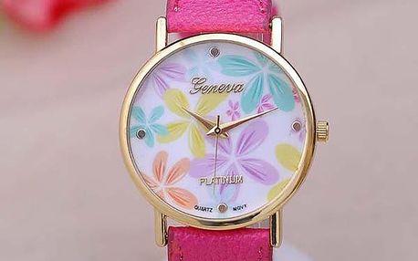 Dámské hodinky v květinových vzorech