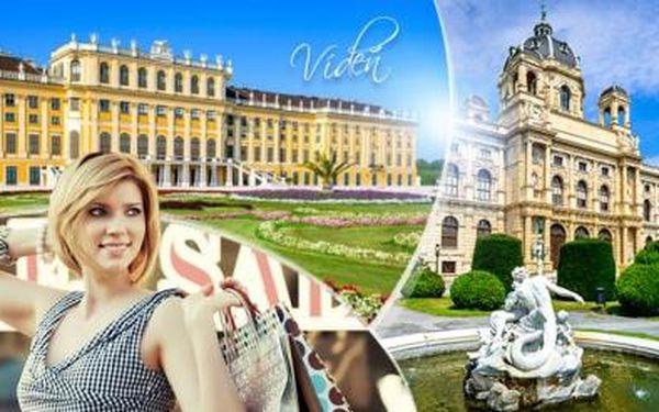 Vídeň! 2denní zájezd pro 1 os. na zámek Schönbrunn a na nákupy. 3* ubytování, doprava, průvodce. Akce brzy končí!