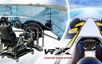 30, 60 či 120 minut v realistickém automobilovém simulátoru VRX Imotion na Praze 5. První simulátor VRX v Evropě!