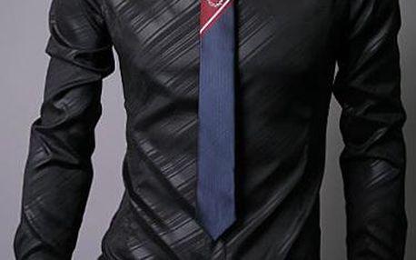 Stylová padnoucí pánská košile se zajímavým vzorem