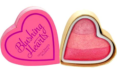Makeup Revolution London I Love Makeup Blushing Hearts Triple Baked Blusher 10g Make-up W - Odstín Peachy Keen Heart