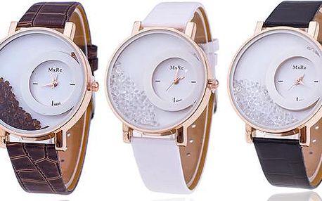 Dámské hodinky s přesýpacími krystaly