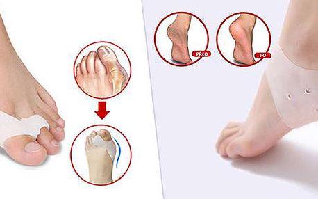 První pomoc na vbočený palec a popraskané paty