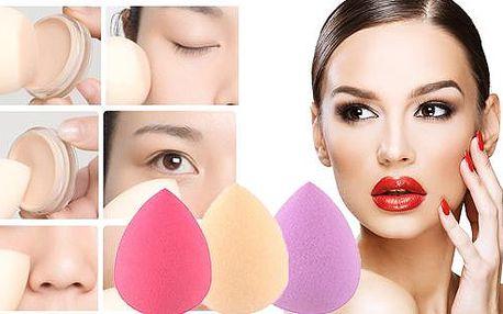 Tři kusy houbiček na make-up ve tvaru slzy