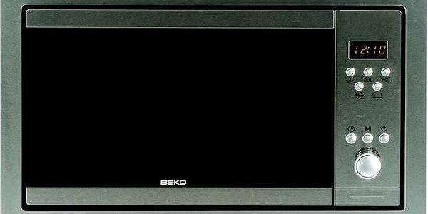 Vestavná mikrovlnná trouba Beko MWB 2310 EX (mirné škrábance uvnitř mikrovlnky)