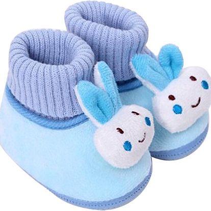 Dětské protiskluzové botičky se zvířátkem