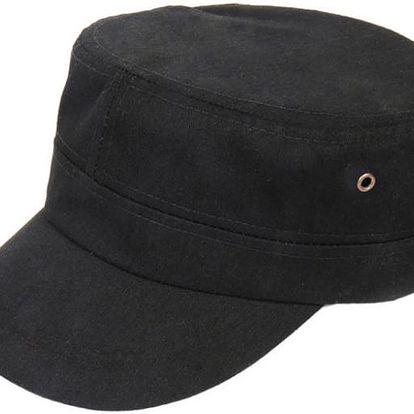 Letní černá čepice s kšiltem