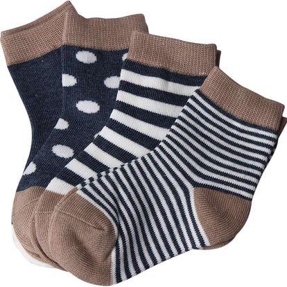 Čtyři páry ponožek pro děti do 3 let