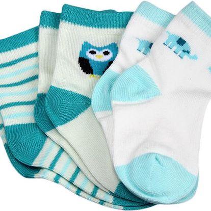 Bavlněné dětské ponožky - 3 páry