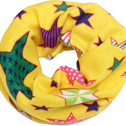Dětský tunel na krk s motivem hvězdiček