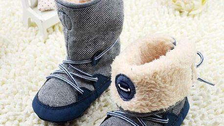 Zateplené látkové botičky pro batolata