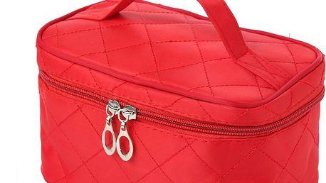Dámský kosmetický kufřík na zip