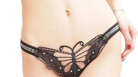 Dámské sexy tanga ve tvaru motýla
