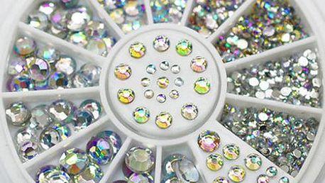 Sada kamínků s duhovým odleskem pro dekoraci nehtů