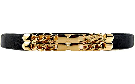 Dámský metalický pásek se zlatými řetězy