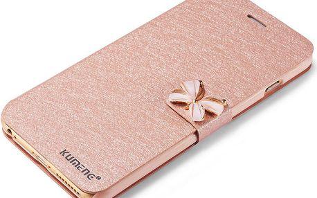 Luxusní dámské pouzdro na iPhone 6/6s s motýlem