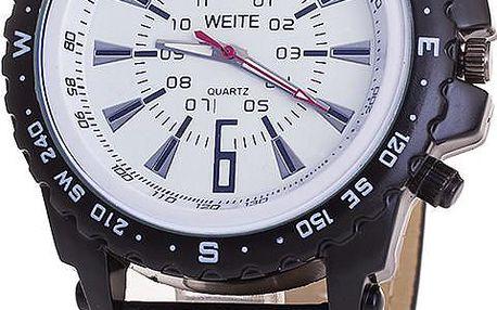 Luxusní analogové hodinky s koženým páskem