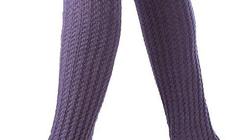 Dámské pletené návleky na nohy dlouhé až po kolena