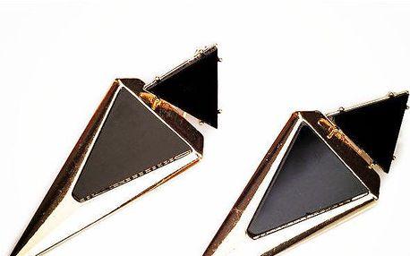 Extravagantní trojúhelníkové náušnice