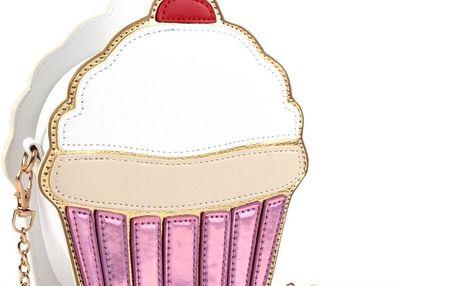 Roztomilá dámská kabelka s motivem cupcake