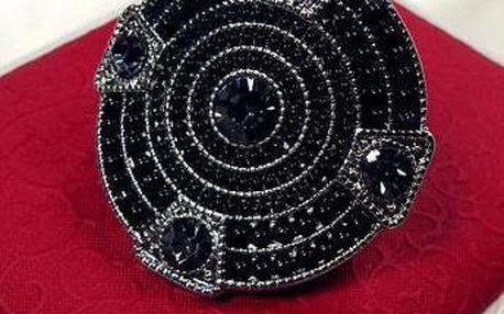 Velký elastický prsten s kamínky a korálky